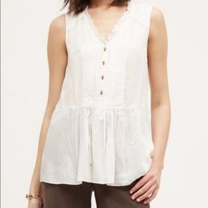 Anthropologie Holding Horses Viscose white top